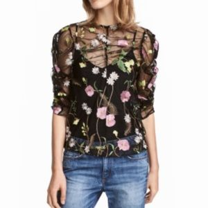 H&M floral embroidered blouse 4